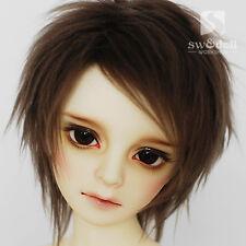 Handsome Brown BJD Doll Fur Wig for BJD 1/12,1/8,1/6,1/4,1/3,Uncle HH28