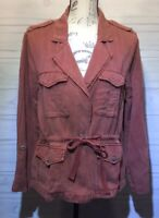 New Sanctuary Womens Salmon Medium Linen Blend Jacket