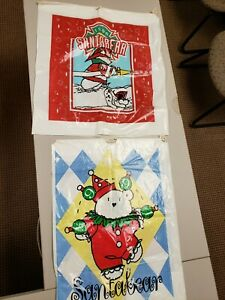 (2) SANTABEAR Bags 1994 & 1996 Dayton Hudson Polar Club - Bag Only