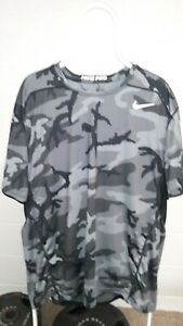 Nike Pro Fitted Dri-Fit Pittsburgh Steelers Size 3XL Camo Shirt