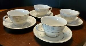 Japan English Garden China #1221 Set of 4 Cups and Saucers