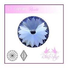 Rivoli Schmucksteine Light Sapphire Kristalle 14mm 2 Stück zum Schmuck Basteln