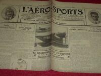 [Coll. Jean DOMARD SPORTS] L'AERO-SPORTS Auto Vélo Aviation Boxe etc. N°141 1923