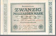 Allemagne billet 20 P118e 1923 fem