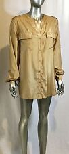 NWT Ladies Charter Club Button up Blouse river kwai fr Macy's col almond size XL