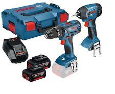 Bosch Cordless Twin Kit GSB 18 V-28 + GDR 18 V-LI 2 x 4.0Ah L-BOXX -  0615990FN5