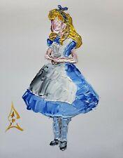 Andrew Harr Painting Original Alice In Wonderland Pop Art Abstract New Fine Art