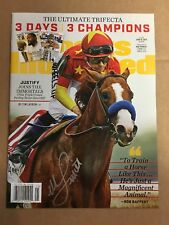 Mike E Smith signed Justify Sports Illustrated magazine EXACT PROOF Triple Crown