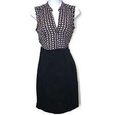 Dorothy Perkins Dress 6 Black Sleeveless Heart Bird