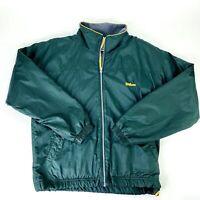 Wilson Advantage Tennis Mens Medium Green Nylon Jacket Fleece Lined Full-Zip