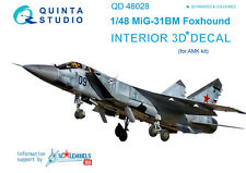 Quinta QD48028 1/48 MiG-31BM 3D-Printed&coloured interior, (for AMK)