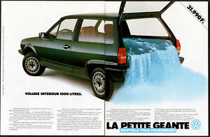 1982 VOLKSWAGEN Polo Vintage Original 2-pages Print AD Falls photo France French