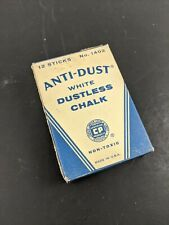 Binney & Smith Chalk Anti-Dust White Dustless in Retro Vintage Box Package
