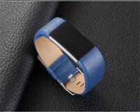 remplacement véritable Bracelet cuir montre band pour Fitbit Charge 2 TRACKER