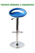 Taburete ABS nuevo, azul , altura 104, base cromada, lápices de, regulable