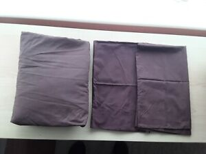 Brown King Size fitted Sheet & 2 pillow cases