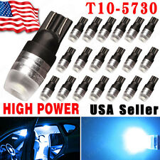 20pcs Ice Blue High Power 1W 5730 T10 Wedge LED Light 192 168 194 DC12V