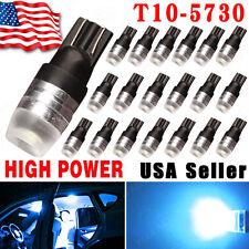 20pcs Ice Blue High Power 1W 5730 T10 Wedge LED Light 192 168 194 DC12V