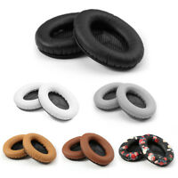 1 Pair Replacement L/R Leather Ear Pads Cushion for Bose QC2 QC15 AE2 Headphones
