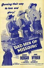 Westerns: BAD MEN OF MISSOURI, 1941, Dennis Morgan, Jane Wyman: DVD-R Region 2