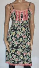 Oliver & Isabelle Designer Black Floral Chiffon Lace Day Dress Size L BNWT #sa40