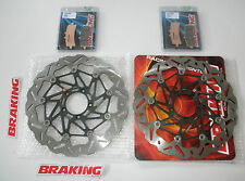 BRAKING KIT DISCHI FRENO ANTERIORI WAVE + PAST PER DUCATI 1098 S TRICOLORE 2008