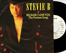 """STEVIE B because i love you the postman song 7"""" PS EX/EX noc german 879 596-7"""
