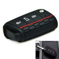 1x Car Key Case Silicone Remote Key Holder Cover Fit Volkswagen VW Golf 7 mk7