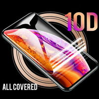 For iPhone 11 Pro Max XS XR X 8 7 6 Plus 10D Full Screen Protector Hydrogel Film