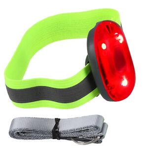 LED Clip Reflektor Blinklicht Reflektorband Anhänger Lampe Licht Joggen Fahrrad