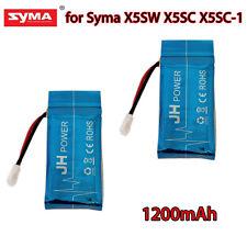 2X 3.7V 1200mAh High Capacity Lipo Battery for Syma X5SW X5SC RTF Drone Spare AU