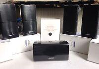 5 Bose MINT Speakers w Center Double Cube DoubleShot Black Lifestyle Acoustimass
