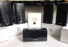 New listing 5 Bose Mint Speakers w Center Double Cube DoubleShot Black Lifestyle Acoustimass