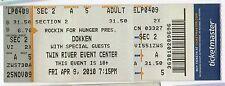 DOKKEN Concert TICKET Tour STUB Twin River RHODE ISLAND Rockin for Hunger METAL