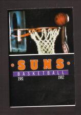 Phoenix Suns--1981-82 Pocket Schedule--Blue Cross Blue Shield