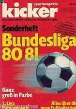 Magazin kicker Sonderheft - Bundesliga 1980/1981,80/81,2. Liga,Europapokale,...