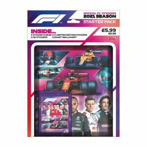 2021 TOPPS FORMULA 1 STICKER STARTER PACK ALBUM +36 STICKERS + 2 LIMITED EDITION