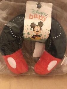 """Disney Mickey Mouse Infant Neck Roll Travel Neck Pillow 9"""" Stuffed"""