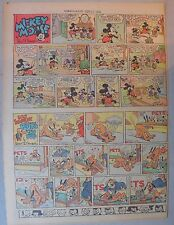 Mickey Mouse Sunday Page by Walt Disney from 9/22/1940 Tabloid Page Size