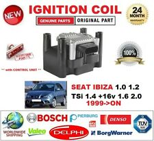 FOR SEAT IBIZA 1.0 1.2 TSi 1.4 +16v 1.6 2.0 1999-ON IGNITION COIL w CONTROL UNIT