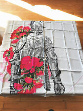 "Auth. New Rare We Are Owls Rose & Knight Grey 100% Silk Scarf 43""x43"""