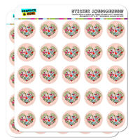 Bald Eagle Flying Mountains Scenic Heart Planner Scrapbook Craft Stickers