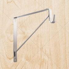 Closet Hardware Shelf and Oval Rod / Tubing Support Bracket chu530 Satin Nickel