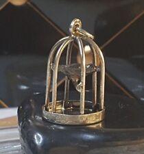 Silberschmuck Vintage Designer Silber Anhänger / Pendant / Vogelkäfig Bird Cave
