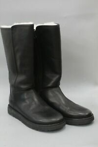 UGG Women's Abree II Black Leather Tall Boots Size US 8