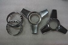 1965-66 CHEVROLET CORVETTE 3 BAR SPINNER RINGS CENTER CAPS OEM USED
