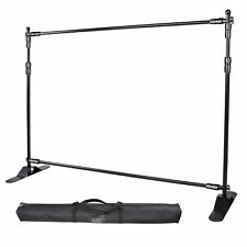 8x10ft Trade Show Backdrop Stand Black Adjustable Size Multi Purposes