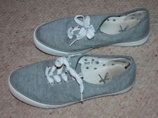 Grey skater style lace up shoes - size 6