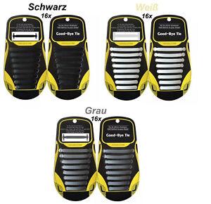 Silikon Schnürsenkel,Schnürbänder,Schuhband,Elastisch,Flach >SCHWARZ,GRAU,WEIß<