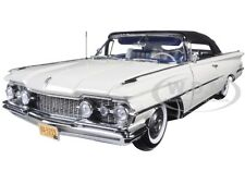"1959 OLDSMOBILE ""98"" CLOSED CONVERTIBLE WHITE 1/18 PLATINUM EDITION SUNSTAR 5233"